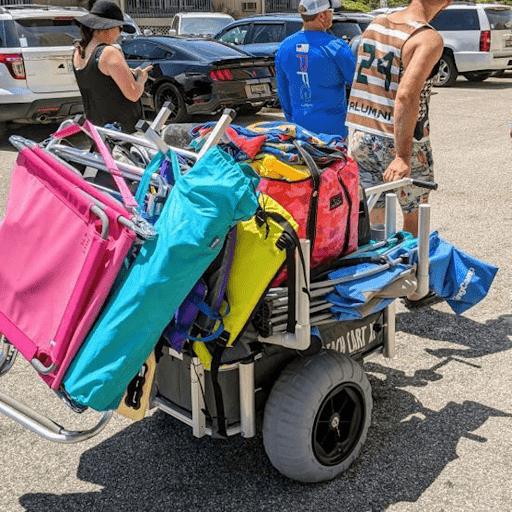 ultimate beach cart xl best beach cart for oft sand